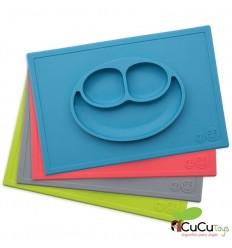 EZPZ - Plato de silicona infantil Happy Mat