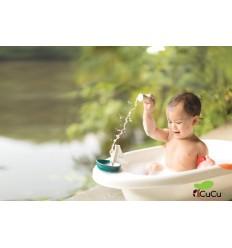 PlanToys - Barco pesquero, juguete de baño