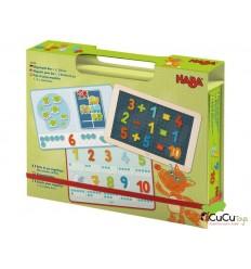 HABA - Caja de juego magnético 1, 2, a contar bien