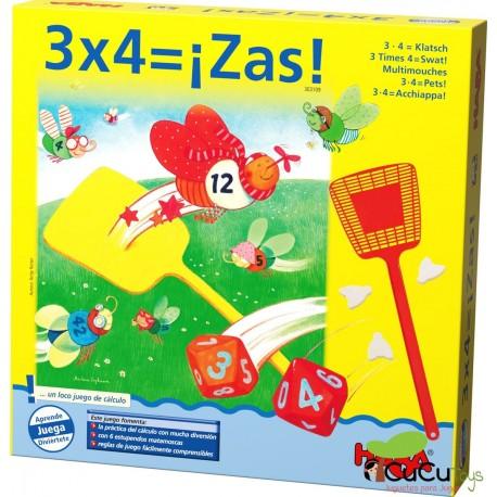 HABA - 3 x 4  ¡Zas!, juego de mesa