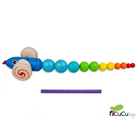 PlanToys - Arrastre Serpiente, juguete de madera