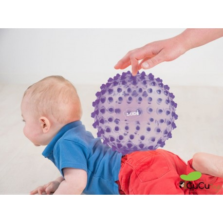 Ludi - Pelota de estimulación sensorial Lila
