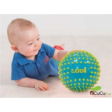 Ludi - Pelotas de estimulación sensorial turquesa-amarillo