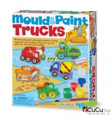 4M - Moldea y pinta, Camiones, juguete creativo