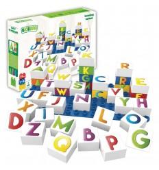 Biobuddi - Bloques de construcción Aprende las Letras 36 piezas