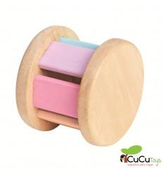 Plantoys - Sonajero de madera, diseño Roller Pastel