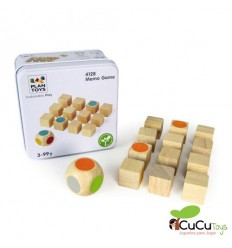 Plantoys - Lata Juego de memoria, juguete de madera