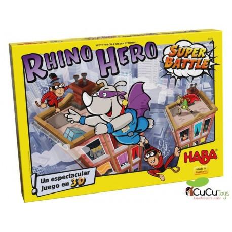 HABA - Super Rino - Super Battle, juego de habilidad