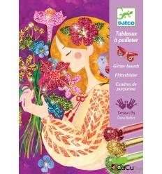 Djeco - El perfume de las flores, cuadro de purpurina