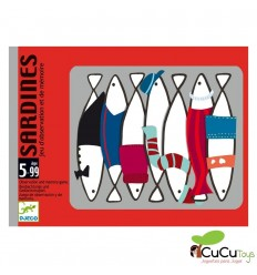 Djeco - Sardines, juego de cartas