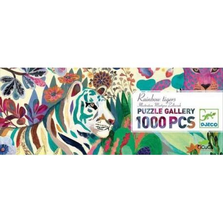 Djeco - Tigres Arcoiris, puzzle de galería 1000 pz