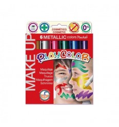 Playcolor - Maquillaje Pocket 6 Colores Metalizados