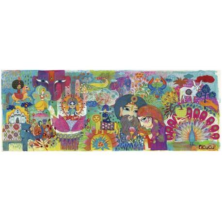 Djeco - India Mágica, puzzle de galería 1000 pz