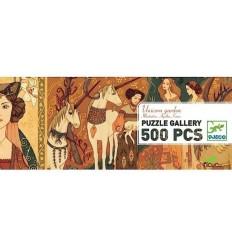 Djeco - Jardín de unicornios, puzzle de galería 500 pz