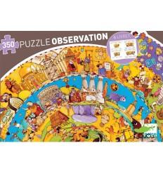 Djeco - Historia, puzzle 350 peças + poster + livro educativo