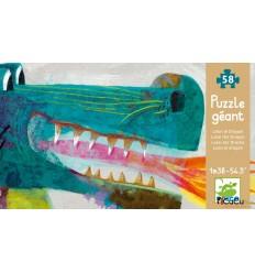 Djeco - León el Dragón, puzzle gigante 58 pz