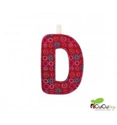 Lilliputiens - Letra D del alfabeto, de tela