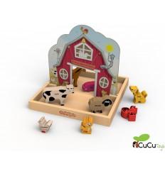 BeginAgain - Animales y Sonidos de la Granja, juego educativo de madera