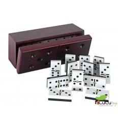 Aquamarine Games - Domino con estuche de madera exclusive