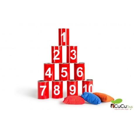 BuitenSpeel - Tiro a las latas números, juego de aire libre