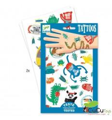 Djeco - Pegatinas de letras de color