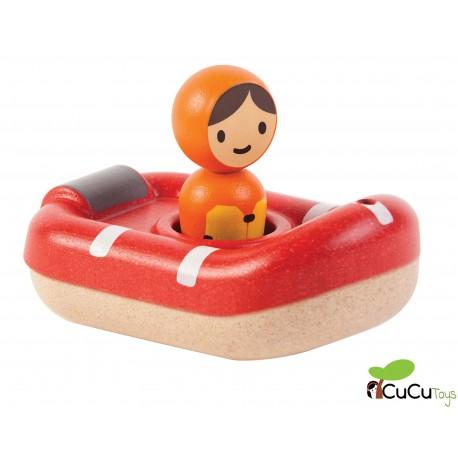PlanToys - Lancha Guardacostas, juguete de baño