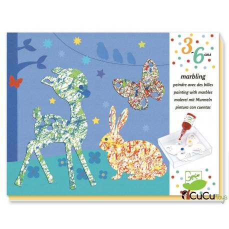 Djeco - Canicas con pintura Desfile multicolor