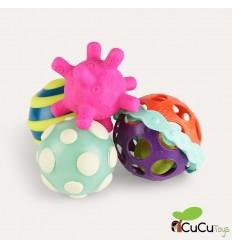 B You - Ball-a-balloos, Set de 4 pelotas de actividades