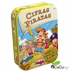 HABA - Cifras piratas, juego de mesa en lata