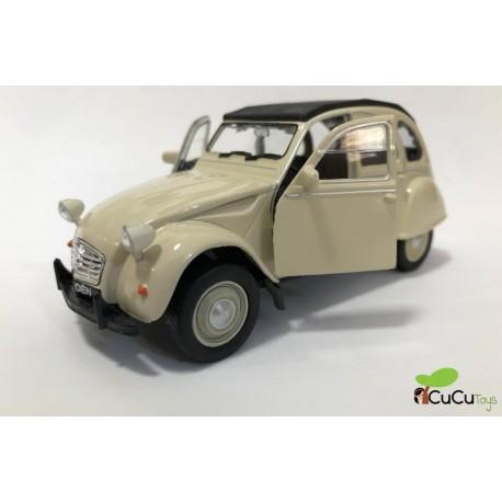 WELLY - Citroen 2CV clásico (1979), coche de juguete