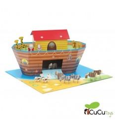 Kroom - Barco de transporte de animales, juguete infantil de carton reciclado