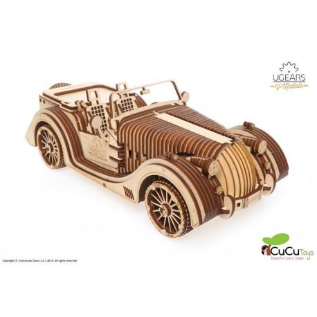 UGears - Roadster mecánico VM-01, kit de madera 3D