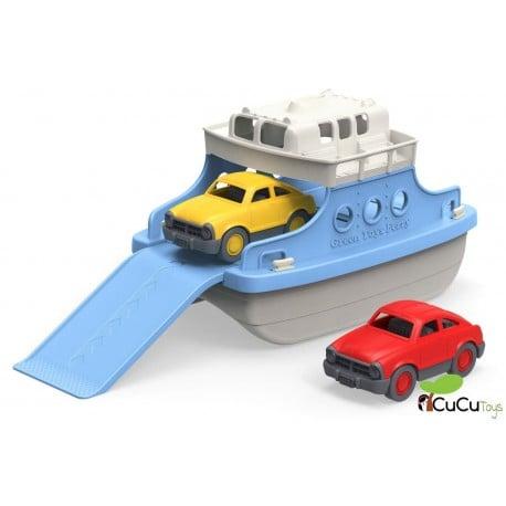 Greentoys - Ferry con mini-coches, juguete ecológico