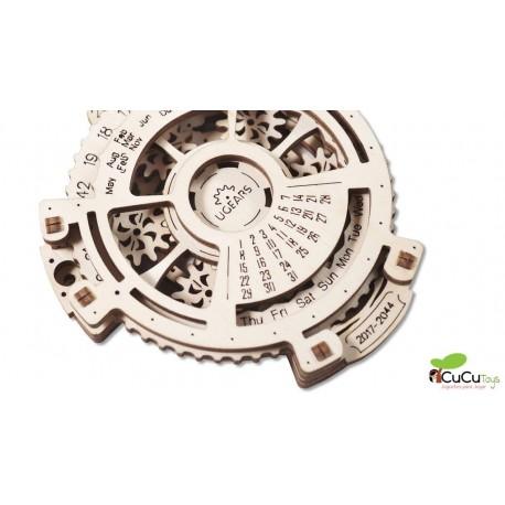UGears - Calendario mecánico, kit de madera 3D