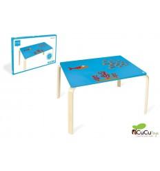Scratch - mesa infantil, decoración fondo del mar y Pez Maurice