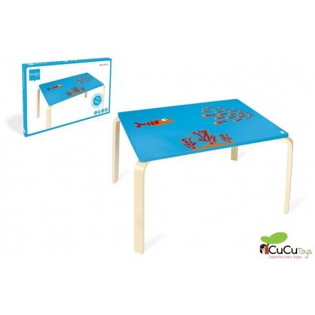 Scratch, mesa infantil, decoración fondo del mar