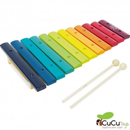 Vilac - Xilófono arcoiris, juguete musical