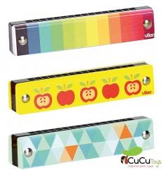 Vilac - Display of 24 wooden harmonicas (Surtido)
