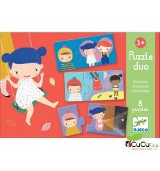 Djeco - Puzzle dúo Emociones