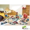 Vilac - Vilacity grúa de puerto magnética, juguete de madera