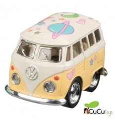 Welly - Mini Volkswagen Classical Bus, coche de juguete