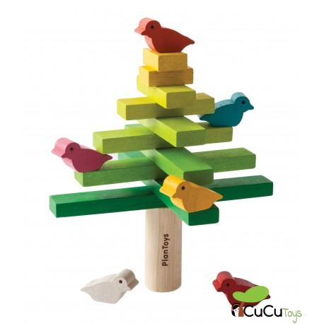 PlanToys - Juego apilable de madera, diseño árbol
