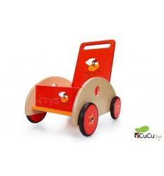 Scratch - Carrito andador correpasillos de madera, Racing Flies