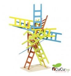 Goki - Escaleras de madera, juego de equilibrio