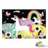Mudpuppy - Unicornios, puzzle de 100 piezas que brilla en la oscuridad