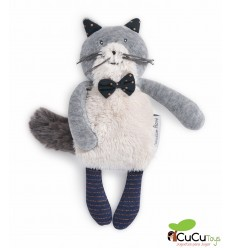 Moulin Roty - Fernand, gatito gris clarito · Les Moustaches