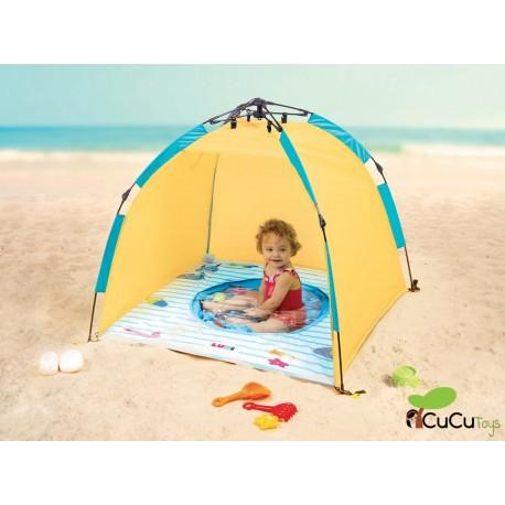 """Ludi - Piscina """"Minuto"""" con protección solar UV50, tienda de playa"""