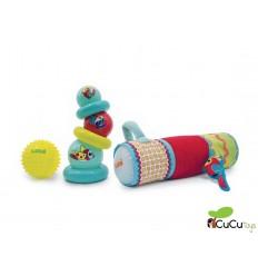 Ludi - Conjunto de tubo y pelotas de estimulación sensorial