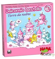 HABA - Unicornio Destello – El tesoro de las nubes, juego de mesa