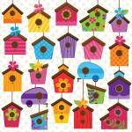 Casas para pájaros decoradas